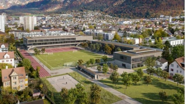 Il nov implant da scola e sport tar la Ringstrasse.