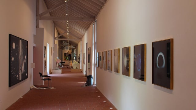 Im Kunstmuseum Thurgau wird eine neue Ausstellung aufgebaut.