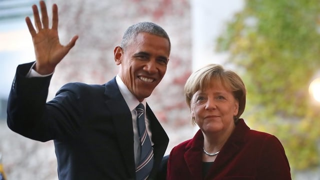 Barack Obama ed Angela Merkel.