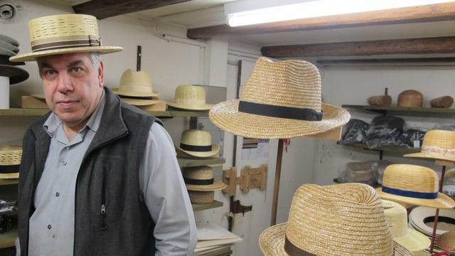 Kurt Wismer mit Hut.