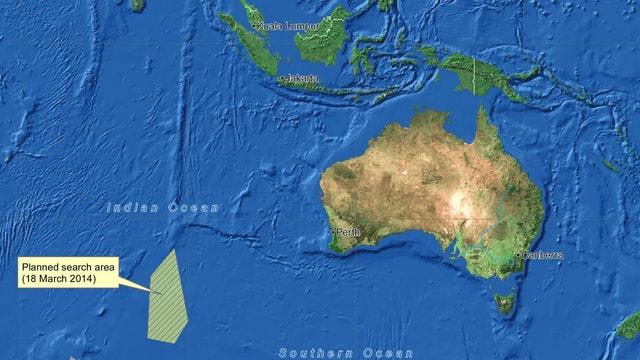 Kartenausschnitt zeigt Australien