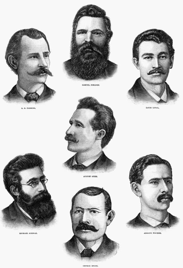 Porträts der «Haymarket Martyrs»