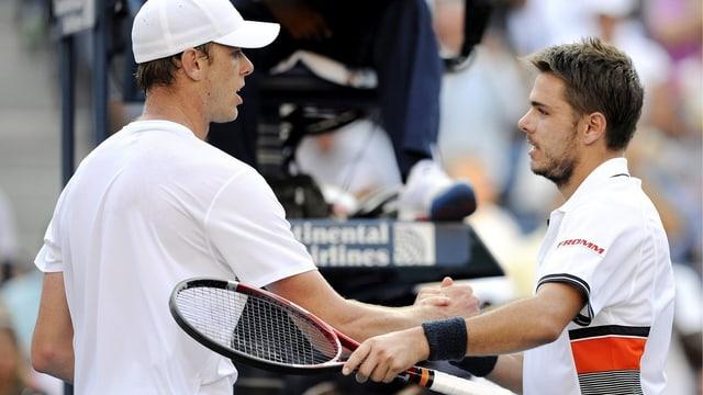 Das letzte Duell zwischen Querrey (links) und Wawrinka an den US Open 2010 ging über 5 Sätze.