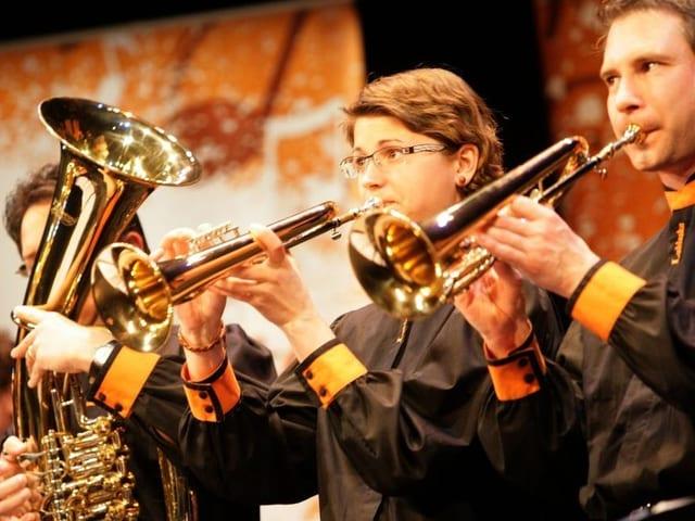 Close-up Trompetenspieler der BK Lublaska.