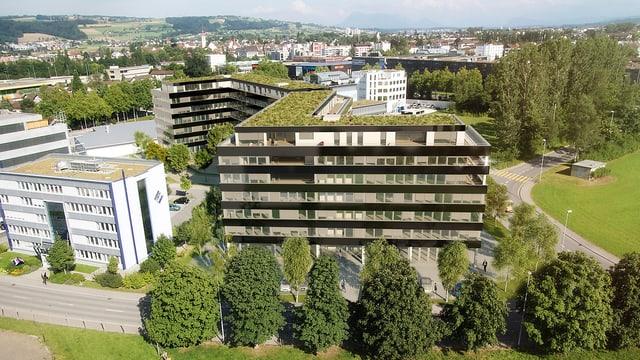 Das Wohn- und Geschäftshaus «Buchenhof» in Sursee.