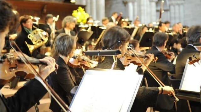 Musiker eines Orchesters.
