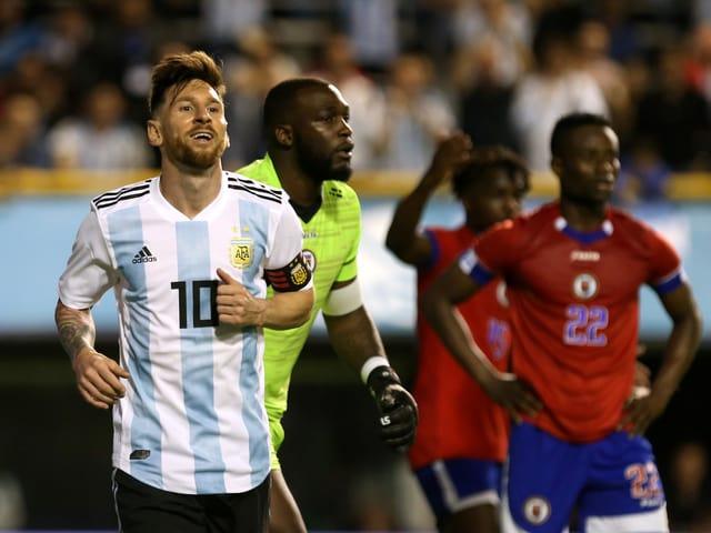 Argentiniens Superstar Lionel Messi.