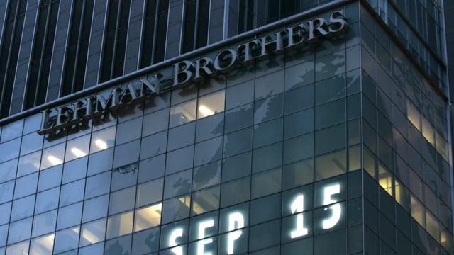 Das Ende der 158 Jahre alten Investmentbank Lehman Brothers kam am 15.9.2008