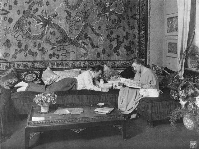 Fritz Lang und seine Ehefrau Thea von Harbou.