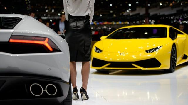 Lamborghini-Stand beim Autosalon in Genf