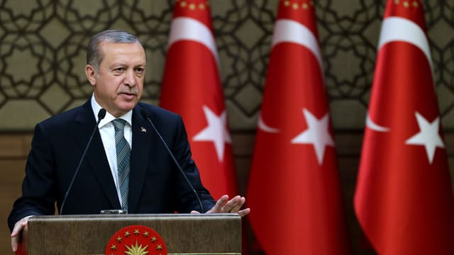 Erdogan durant in discurs public.