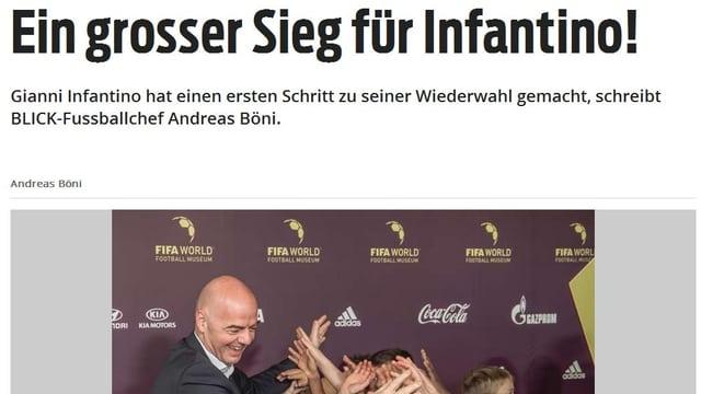 «Egal, ob man das neue Turnier wegen der grossen Emotionen der neuen Teilnehmer als gelungen oder wegen der vielen Mannschaften als sportlich verwässert betrachtet. Dieser neue WM-Modus ist ein grosser Sieg für Infantino.»