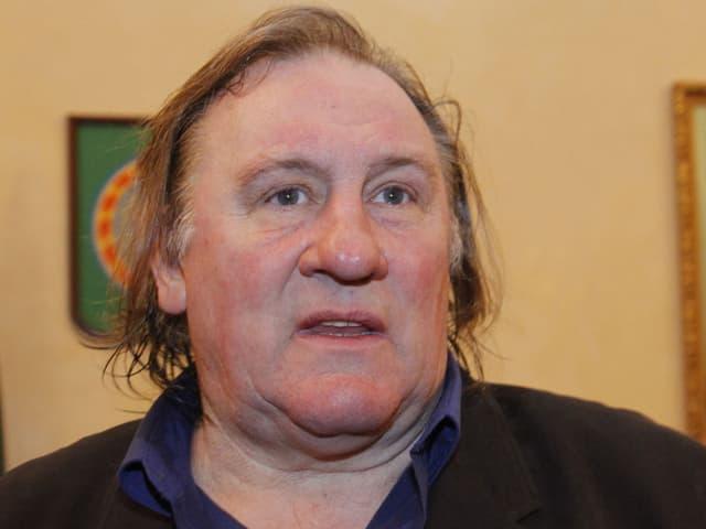 Porträt von Gérard Depardieu.