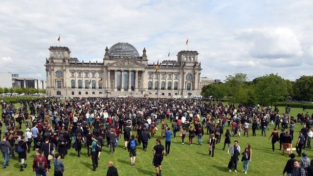 Bundestagsgebäude.