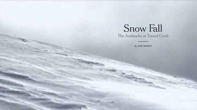 Blick auf die verschneite Oberfläche des Bergs.