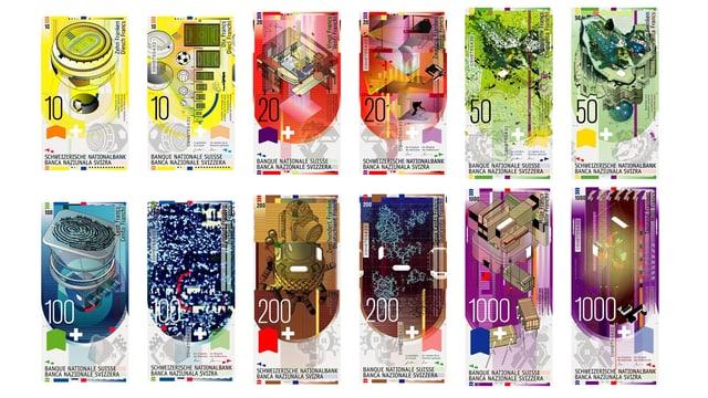 Banknoten von Martin Woodtli