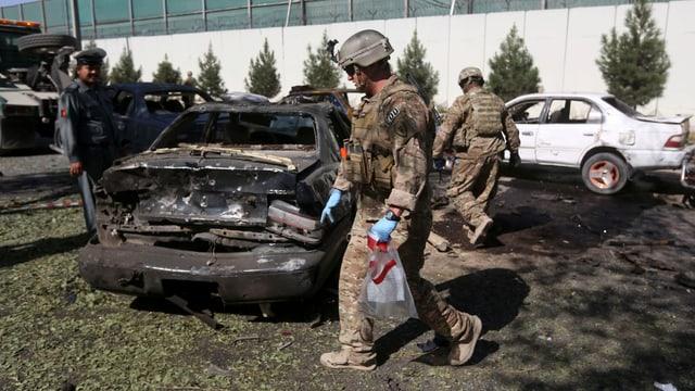 US-Soldaten am Ort des Anschlags