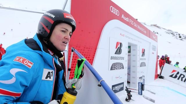 Elisabeth Görgl in St. Anton.