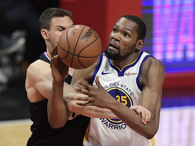 Kevin Durant erzielte gegen die Clippers 50 Punkte.
