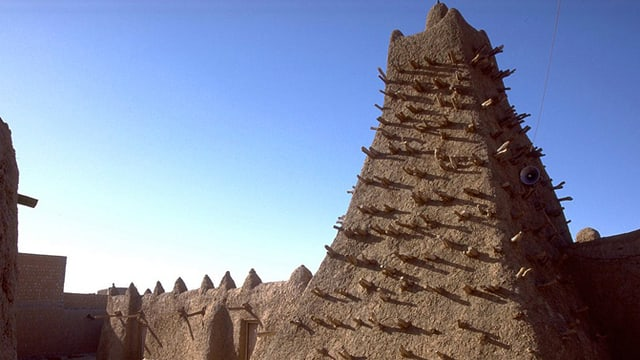 Ein Mausoleum in Timbuktu. Fotoaufnahme vom Juni 2012