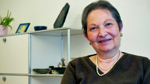 Ein Porträt von Claudine Bolay Zgraggen.