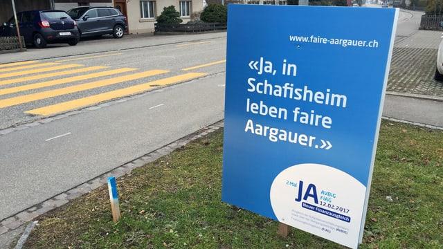 Abstimmungsplakat im Aargau