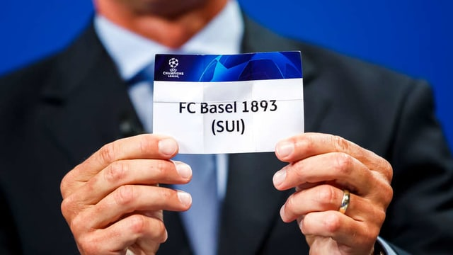 Auslosung der Begegnung für das CL-Qualifikationsspiel (Symbolbild mit FC Basel)