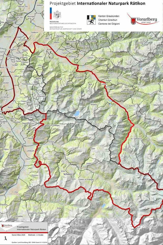 Karte des Naturparks