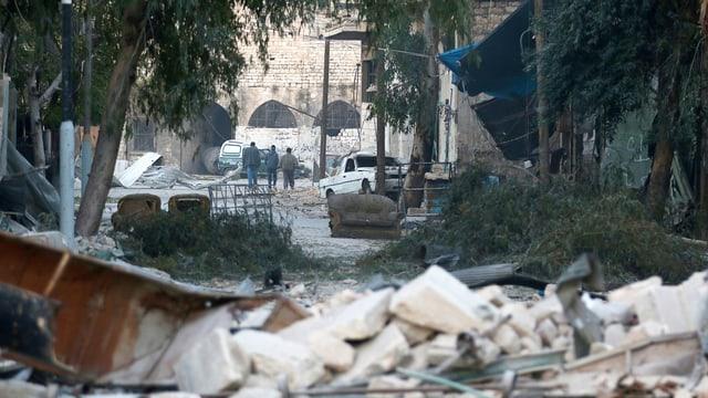 Trümmer in Aleppo