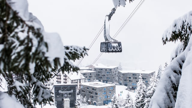Laax è puspè il meglier territori da skis per freestyle.