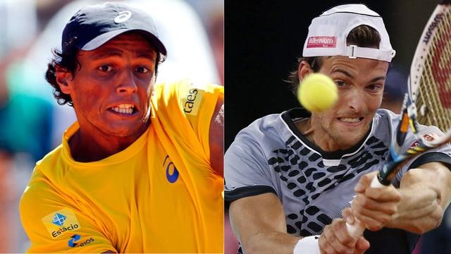 Zwei Tennisspieler, die gleich heissen und gegeneinander antreten.