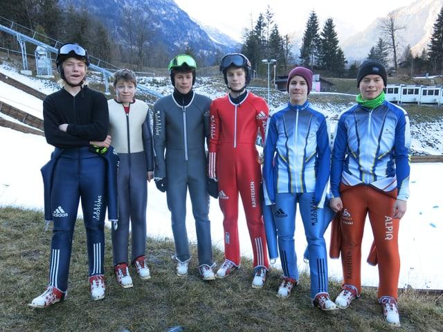 Gruppenfoto Skispringer