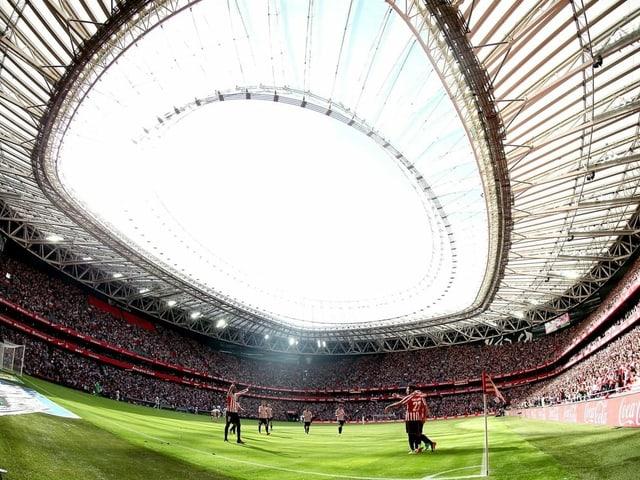 Das Stadion in Bilbao.