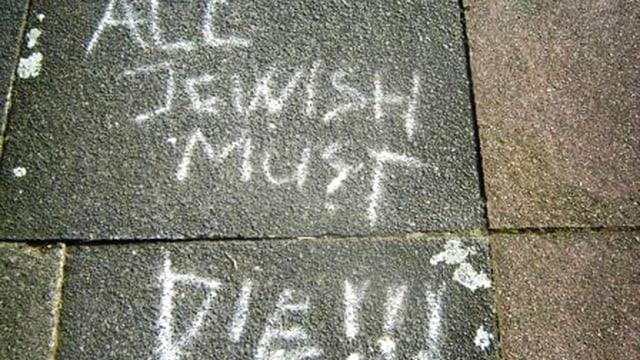 Graffitiaufschrift: All jewish must die