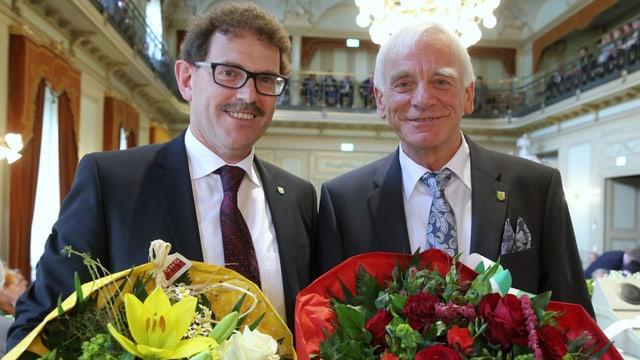 Jakob Schläpfer präsidiert die Regierung, Max Arnold den Grossen Rat.