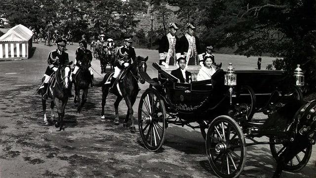 Die Hochzeit des damaligen Kronprinzen Akihito 1959.