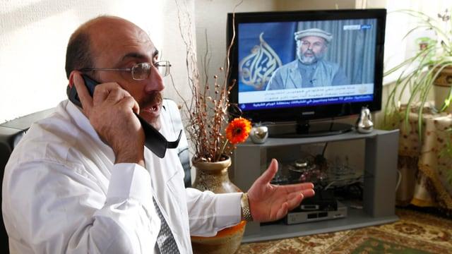 Rami Abdulrahman in seinem Zuhause in Coventry.