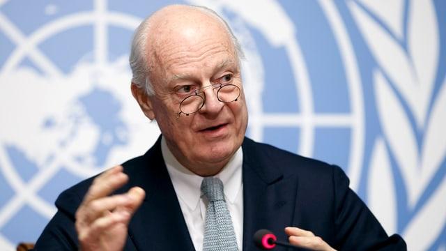 Staffan da Mistura, l'intermediatur spezial da l'ONU per la Siria