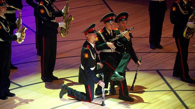 Das Orchester der Suworow Militärakademie Moskau während des Konzerts 2012 am World Band Festival Luzern.