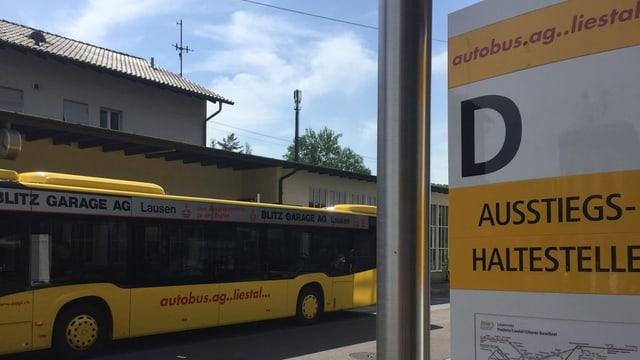 Bus am Bahnhof Liestal