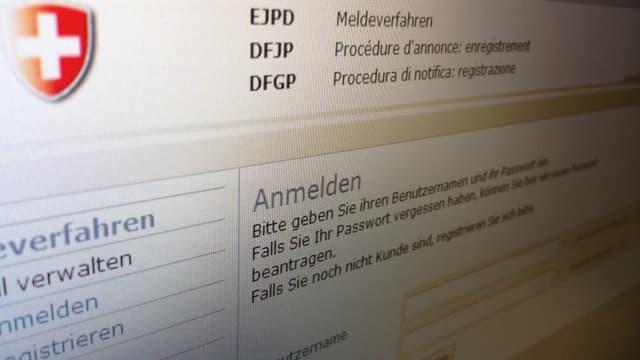 Screenshot der Website des Bundesamts für Migration.