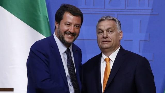 Italiens Premier Matteo Salvini und sein ungarischer Amtskollege Viktor Orban trafen sich Anfang Mai in Budapest.