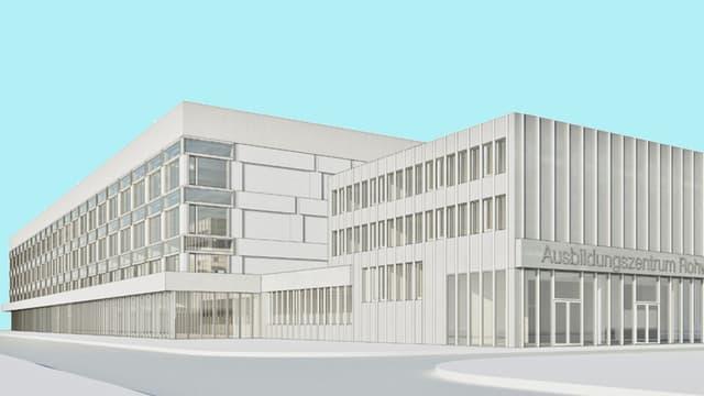 Visualisierung des Ausbildungszentrums von aussen.