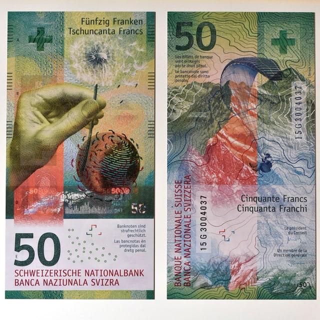 La nova bancnota da 50.
