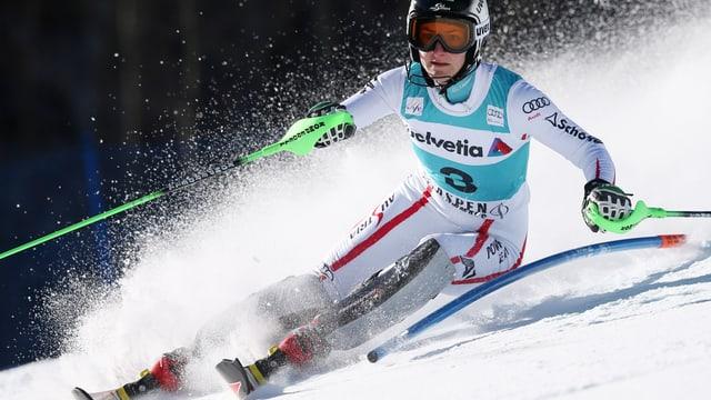 Kathrin Zettel im 1. Lauf des Aspen-Slaloms.