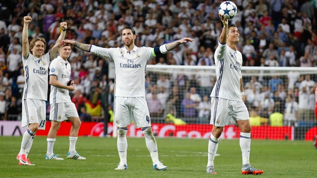 Die Spieler von Real Madrid jubeln
