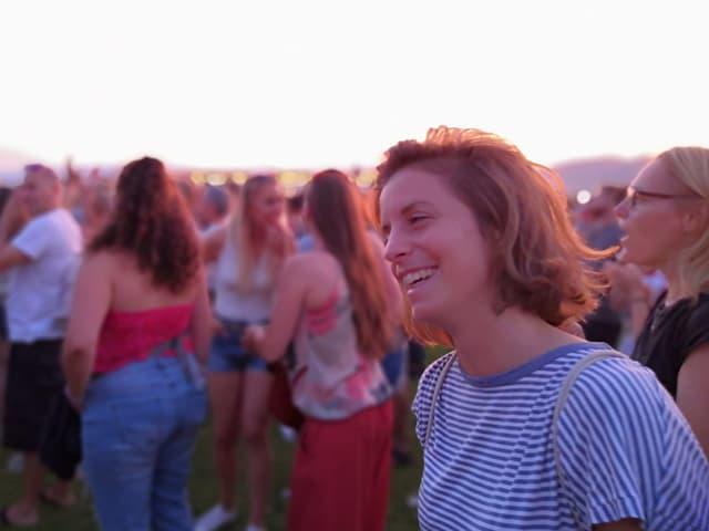 Lena an einem Festival
