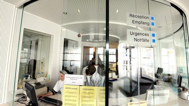 Empfang beim Freiburger Kantonsspital.