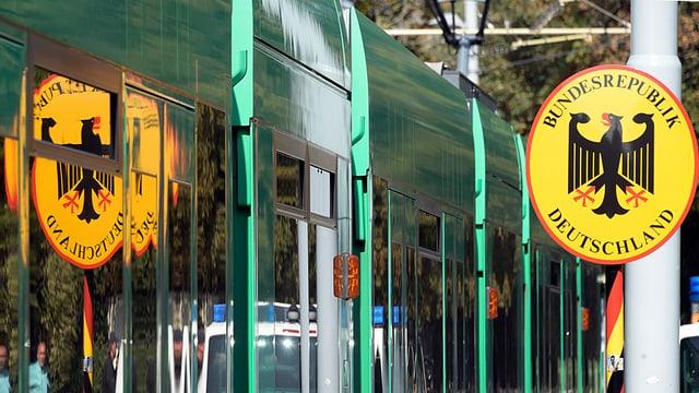Tram am Grenzübergang