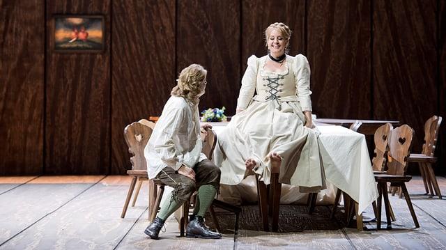 Lohengrin (Klaus Florin Vogt) und Elsa (Elza van den Heever).